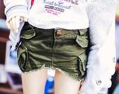 SD13 Girl Vintage Cargo Skirt - Khaki