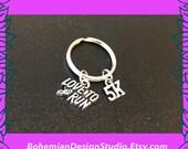 5K run keyring, 5K run race gift, love to run, running keychain, gift for runners, run race prize UK