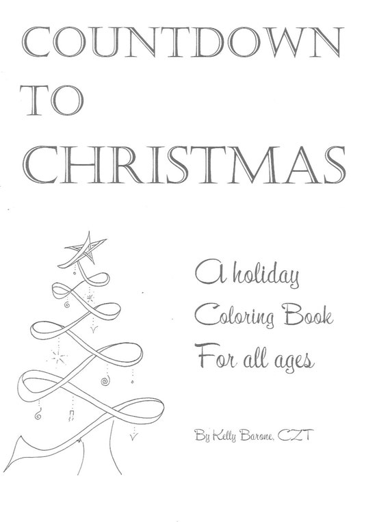 countdown to christmas coloring pages | Items similar to Christmas Countdown- Digital Coloring ...