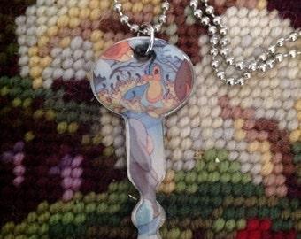 Disney's Bambi Quails Altered Art Key Necklace