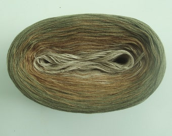 HEMP   Color Changing Cotton yarn  480 yards/100 gr  Fingering Weight