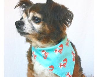 Dog Bandana Size small with Little Foxes