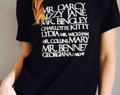 Jane Austen Tee from Pride and Prejudice / Characters