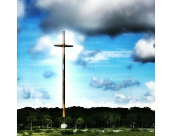 "12"" x 18"" The Great Cross in Saint Augustine, FL  Canvas Print"
