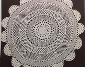 """20"""" Crochetted Doily, Large Round Doily, Centerpiece, Round Table Topper, Wedding Linens"""