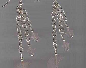 Moon & Stars Sterling Silver Earrings