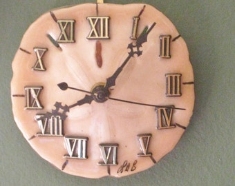 Vintage Sand Dollar Clock, Shellacked Sea Urchin Coastal Beach Home Decor