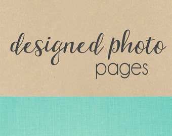 PHOTO PAGES with sayings // baby book, baby gift, photo album, scrapbook album, add on page, baby keepsake