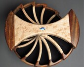 Rotating Jewelry Box; Secret Compartments;  Rosewood and Birds Eye Maple, 'The Helical Box'