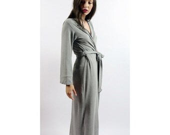 long robe in bamboo - GEM bamboo sleepwear range - made to order