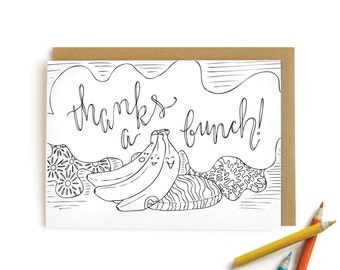 Banana Thanks - letterpress card