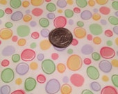Pastel polka dots fabric red pink green purple yellow