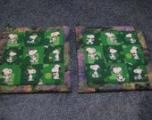 Snoopy in Ireland Kitchen Potholder Set