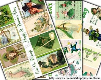 St. Patrick's Day ATC Vintage Printable Digital Download