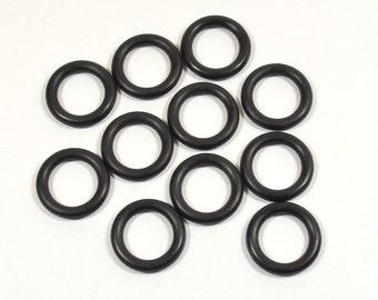 15mm Black Rubber O-Rings