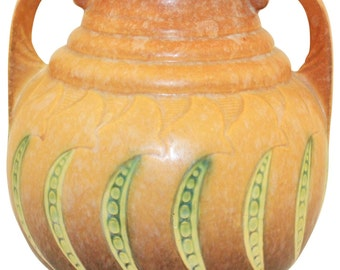Roseville Pottery Falline Brown Vase 648-7