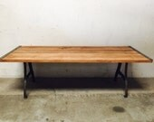 Vintage Dining Room Table With Iron Legs New York, NY