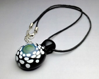 Glass Pendant Handmade Necklace Lampwork Focal Bead by Free Shipping (B3066A)