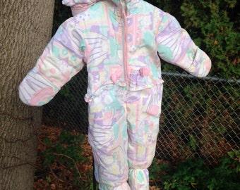 1980's baby bunny snow suit
