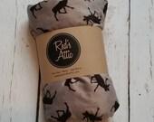 Gray Caribou Double Minky Baby Blanket