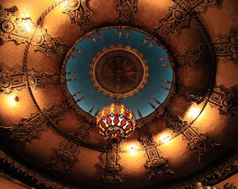 "St. Louis Fox Theater Ceiling Photograph, ""Fox Theater Ceiling"" Fine Art Print. Colorful, Opulent, Ornate, Holiday Gift."