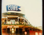 Wrigley Field | Sheffield | Cubs photograph | baseball art print | playroom decor | boys room wall art print | red, indigo, green | color