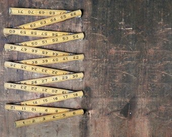 Folding Wooden Yardstick, 6 Foot Ruler, Vintage Royal Tool, Rustic Decor, Farmhouse Decor, Made in USA