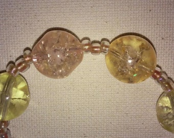Golden Glass Necklace