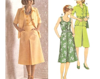 70s Sun Dress and Jacket Pattern Burda 20572 B37 B39 B41