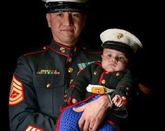 Marine Corps - usmc - Marine Corps Baby Outfit - Marine baby clothes - Marine outfit - Marine corps baby clothes - Hobbyist License #21512