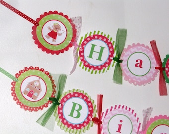 Gingerbread Girl Birthday Banner, Gingerbread Birthday Decorations, Gingerbread Party