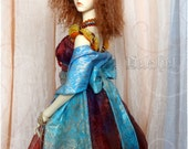 Ooak colorful classic dress outfit for bjd sd supergem girls dolls