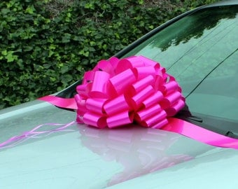 Big Hot Pink Bow Car Gift Wedding Party Decoration Baby Shower Sweet 16
