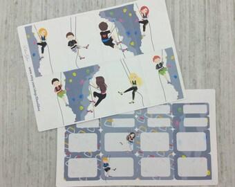 ROCK CLIMBING Sticker Set