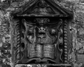 Rustic Scottish Photos - Black and White Architectural Details - Edinburgh Scotland Photos - Rustic Scottish Wall Art - Royal Mile Photos