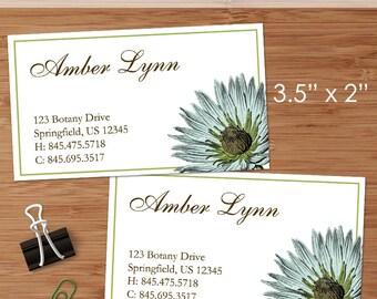 Botany (Botanical Illustration) - 50 Custom Business or Calling Cards
