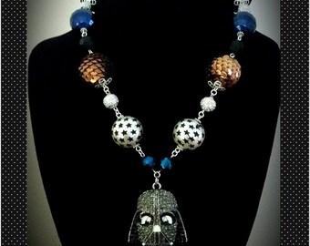Darth Vador Rhinestone Star Wars Bling Necklace