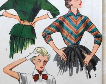 Vintage Blouse Sewing Pattern Simplicity 4010 Size16