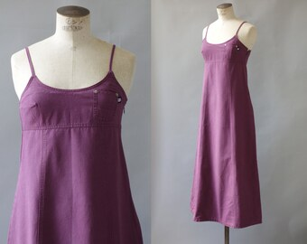 Judith dress   Long denim dress   1990 by cubevintage   small