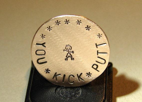 Bronze golf marker you kick putt - GM7210