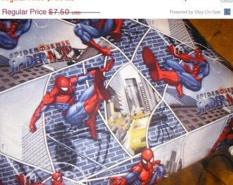 Awesome Spiderman Fabric--Stunning--LAST Piece
