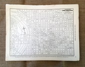 1937 Philadelphia Map. Antique City Map of Philly. Historical Print, Lithograph to Framing. Old 80 year old map. Map to Frame. Pennsylvania
