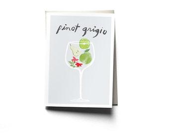 Pinot Grigio Greeting Card