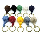 Nautical Boaters Monkey Fist Key Fob 10 Colors