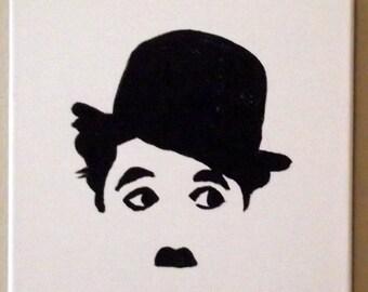 Charlie Chaplin Canvas 12x12 Acrylic