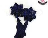 ON SALE RTW Montana Blue 7 Point Star Shaped Rhinestone Nipple Pasties - Size S - SugarKitty Couture