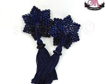 ON SALE RTW Montana Blue 7 Point Star Shaped Rhinestone Nipple Pasties - Size S - SugarKitty Couture