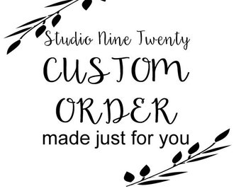 Custom Order for KTLUVDANGER - THREE Personalized Family Forever For Always Hand-Painted Wooden Sign Wall Art 12x24 inch