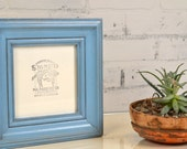 6x6 Picture Frame in Scully Style with Vintage Blue Finish - IN STOCK - Same Day Shipping - Romantic  Blue Frame - Wedding Gift