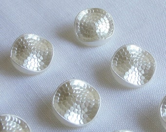 12 elegant  festive  wavy  glass buttons   ( 22.5 mm / 7/8 in.)